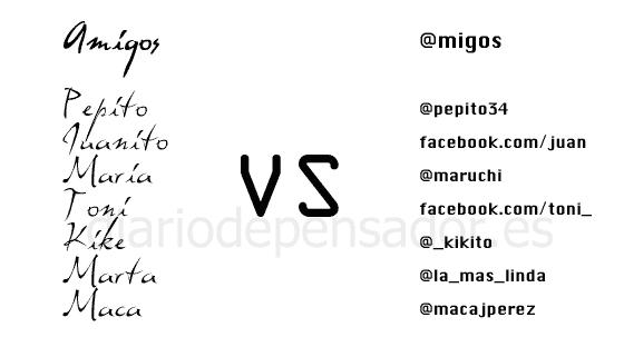 Amigos vs @migos